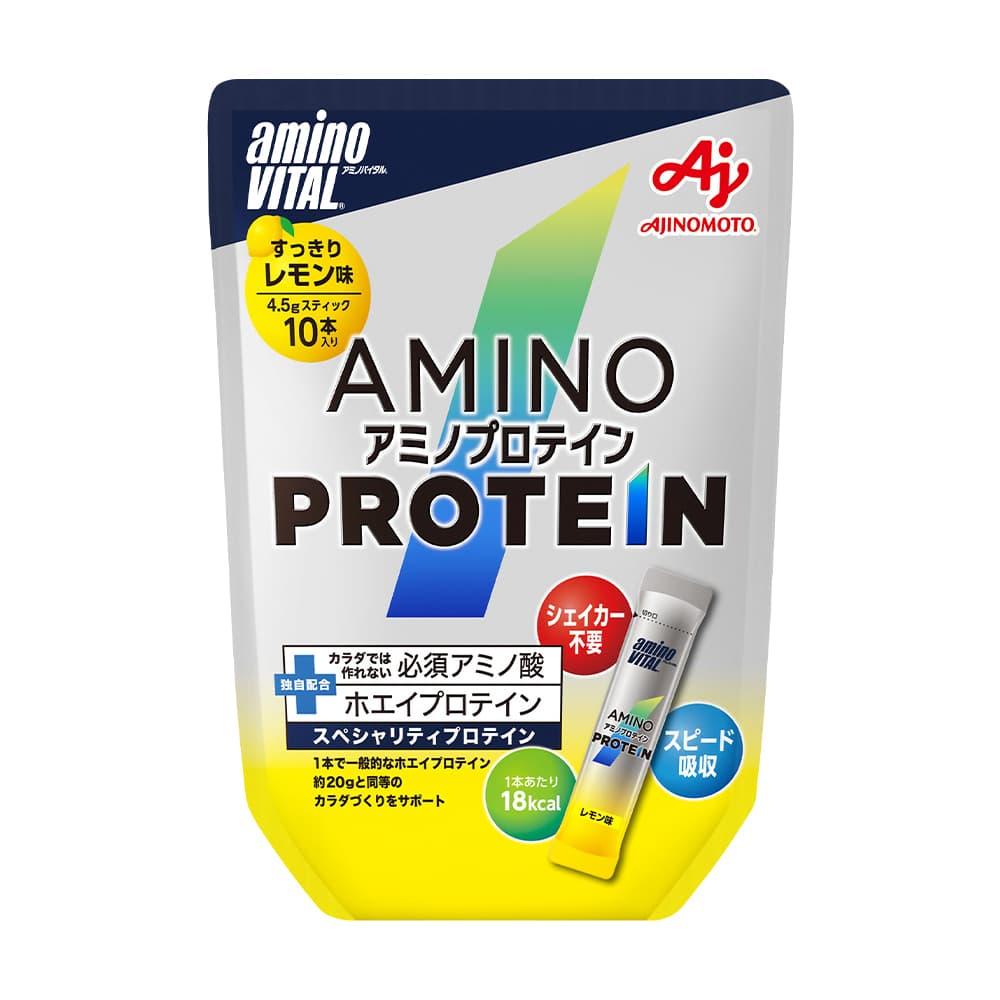 日本味之素 amino VITAL<br>專業級胺基酸乳清蛋白<br>10pcs | 檸檬口味