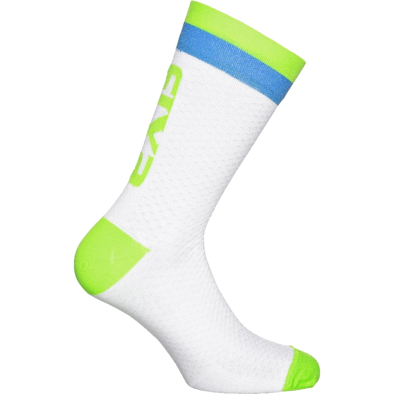 義大利 SIXS <br>機能碳19CM短襪 <br>白/綠藍 <br>LUXURY WHITE GREEN BLUE