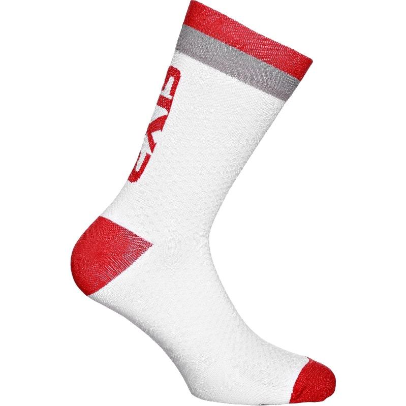 義大利 SIXS <br>機能碳19CM短襪 <br>白/紅灰 <br>LUXURY WHITE RED GRAY