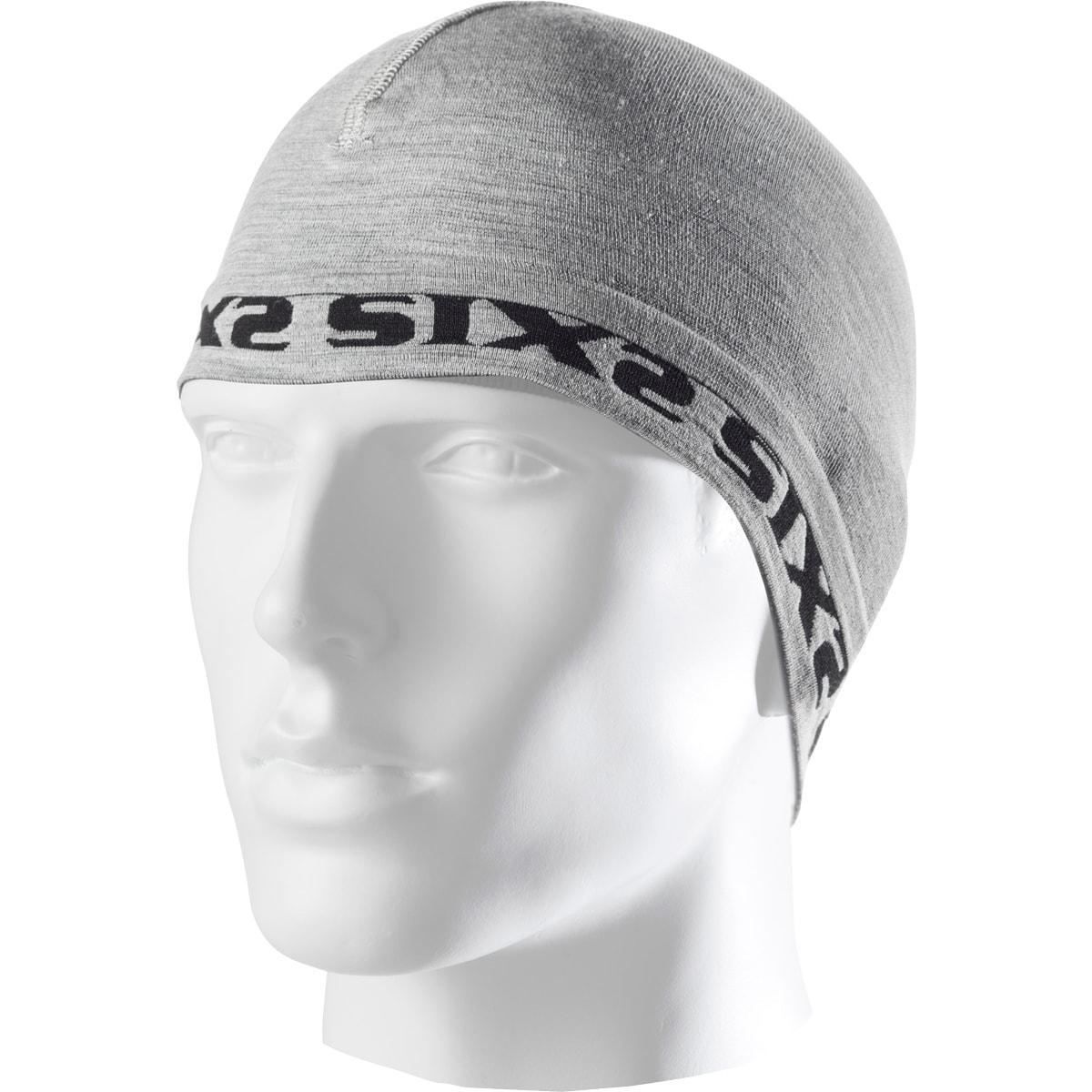 義大利 SIXS <br>SCX MERINOS<br>機能碳 羊毛運動小帽 <br>羊毛灰