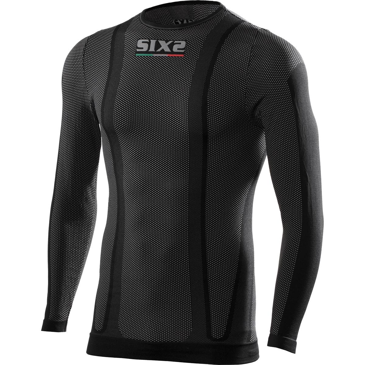 義大利 SIXS <br>機能碳長袖上衣 <br>碳纖黑 <br>TS2 BLACK